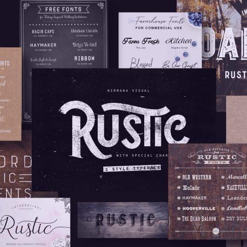 Examples Best Rustic Fonts.