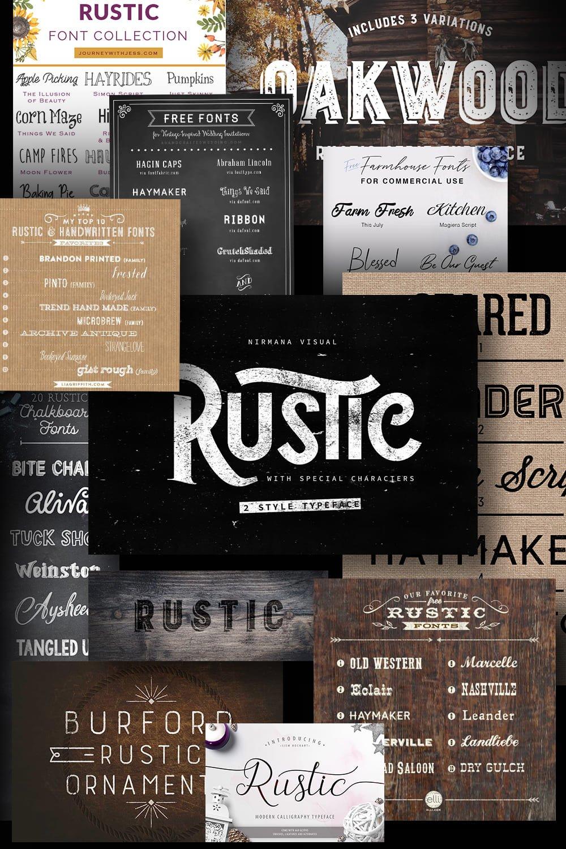 Examples Rustic Fonts. Pinterest.
