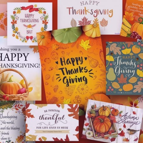 Thanksgiving Cards 2020: 60 Cards to Surprise Your Loved Ones + 30 Thanksgiving Designs for Creating Custom Cards