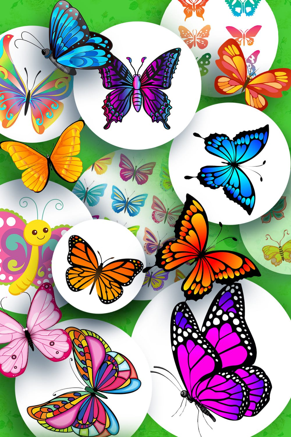 Examples butterfly clipart. Pinterest Image.