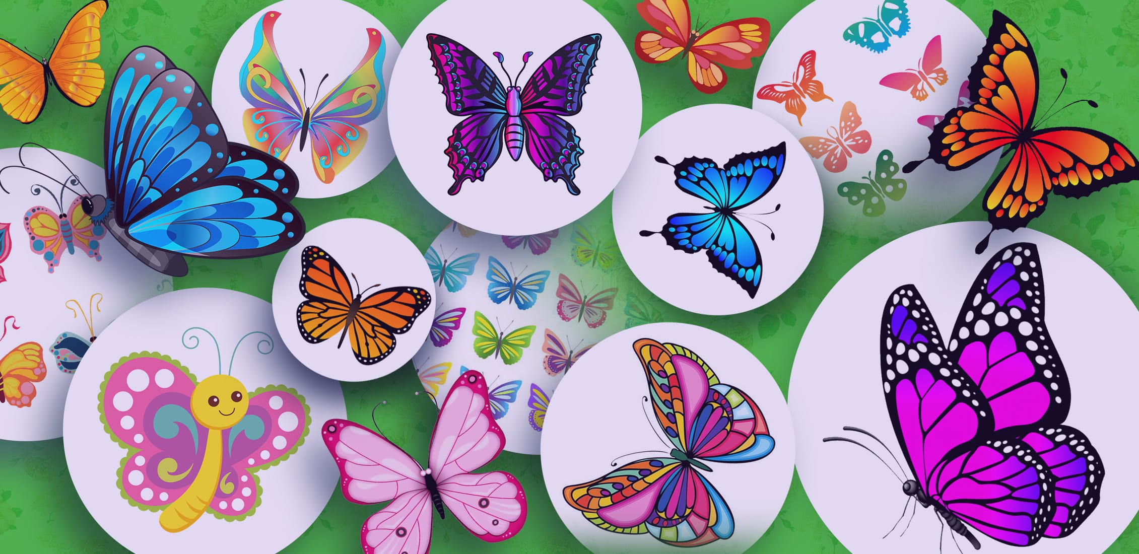 Examples of excellent butterfly clipart.