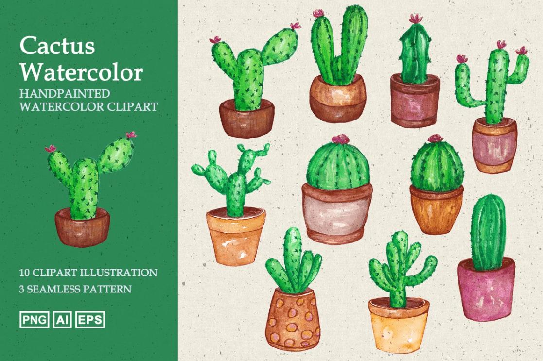 240+ Cactus Clipart 2021: Free and Premium Collections - cactus clipart 3