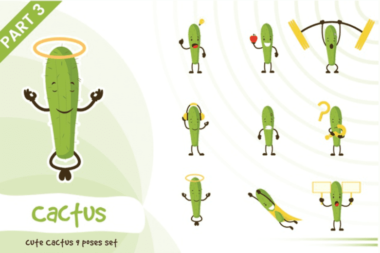 240+ Cactus Clipart 2021: Free and Premium Collections - cactus clipart 9