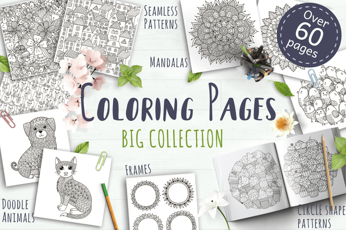 40+ Best Coloring Pages & Cards for Adults 2021: Free & Premium - card 10 1
