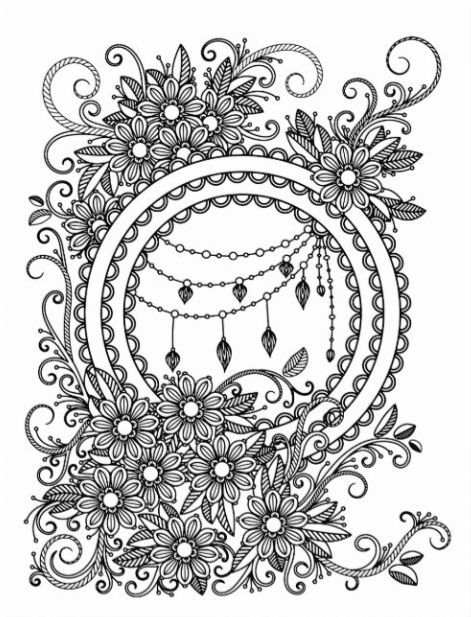 40+ Best Coloring Pages & Cards for Adults 2021: Free & Premium - card 11 1