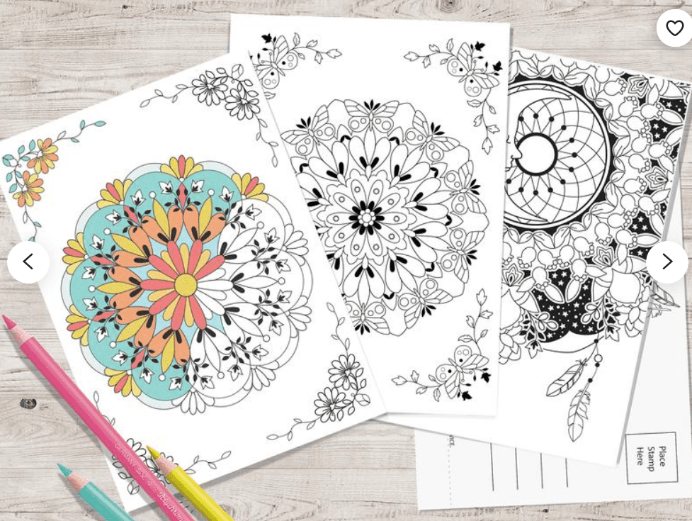 40+ Best Coloring Pages & Cards for Adults 2021: Free & Premium - card 18 1