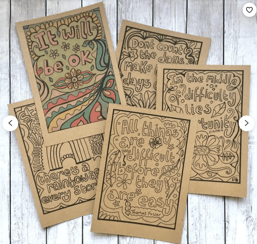40+ Best Coloring Pages & Cards for Adults 2021: Free & Premium - card 19 1