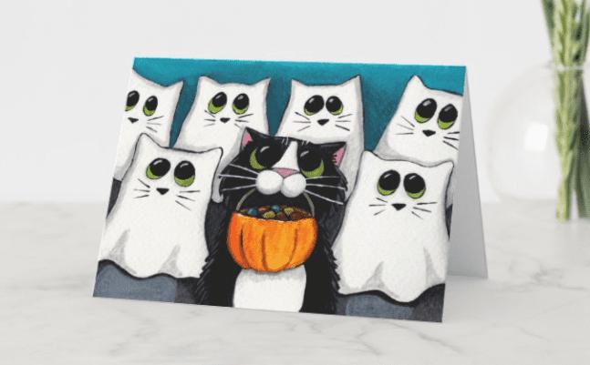 25+ Spookily Beautiful Halloween Cards 2020 👻 - card 19