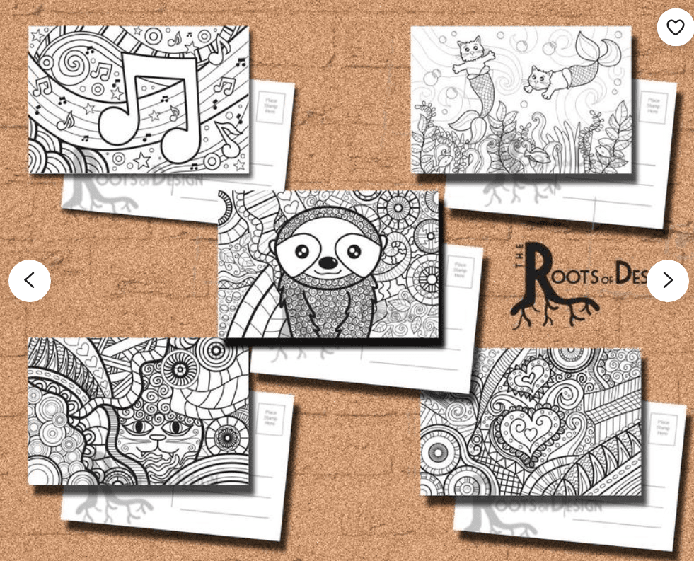 40+ Best Coloring Pages & Cards for Adults 2021: Free & Premium - card 20 1