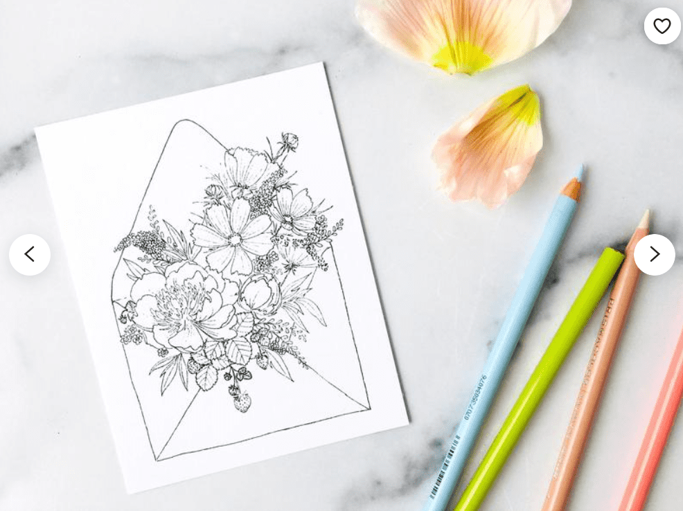 40+ Best Coloring Pages & Cards for Adults 2021: Free & Premium - card 21 1