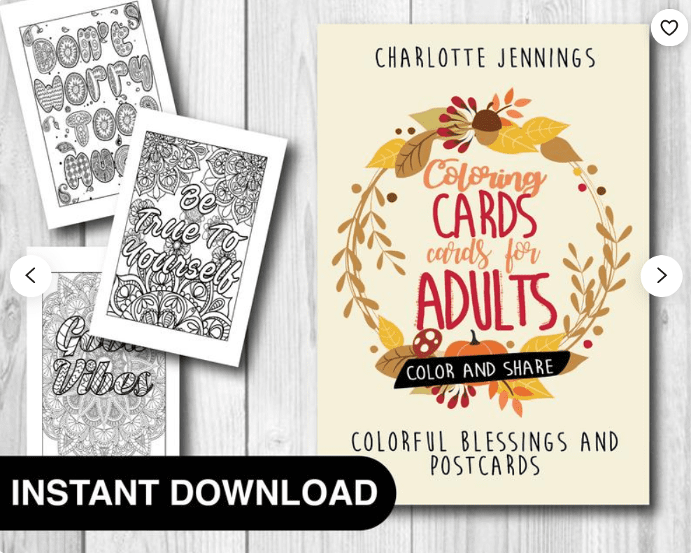 40+ Best Coloring Pages & Cards for Adults 2021: Free & Premium - card 23 1