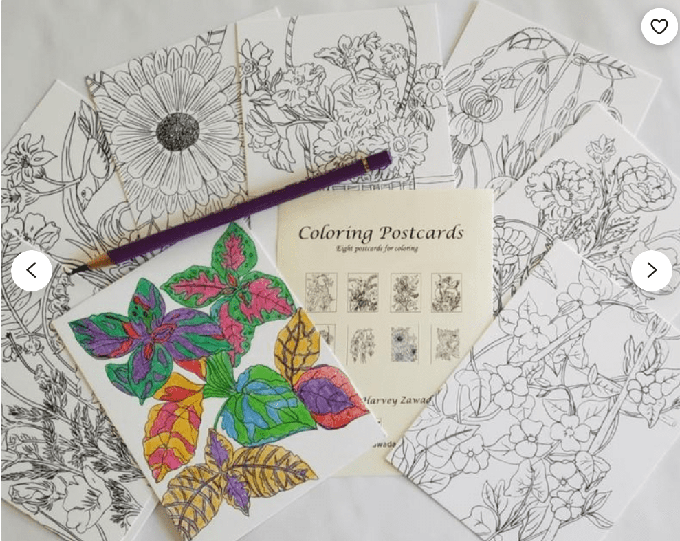 40+ Best Coloring Pages & Cards for Adults 2021: Free & Premium - card 24 1