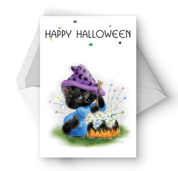 25+ Spookily Beautiful Halloween Cards 2020 👻 - card 27