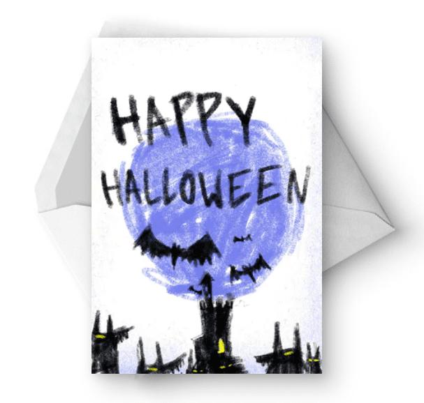 25+ Spookily Beautiful Halloween Cards 2020 👻 - card 28