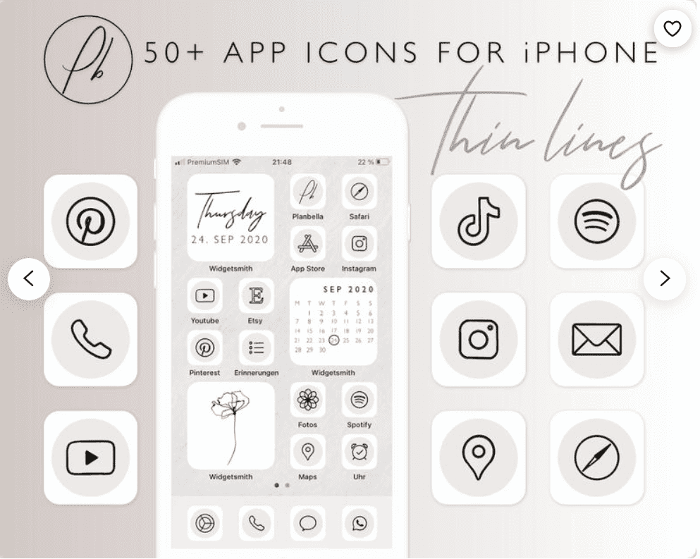 iOS 14 Icon Sets. Everything You Need to Know about iPhone Custom Icons + 30 Best Icons for Your Apple Device - custom icons app iphone 4