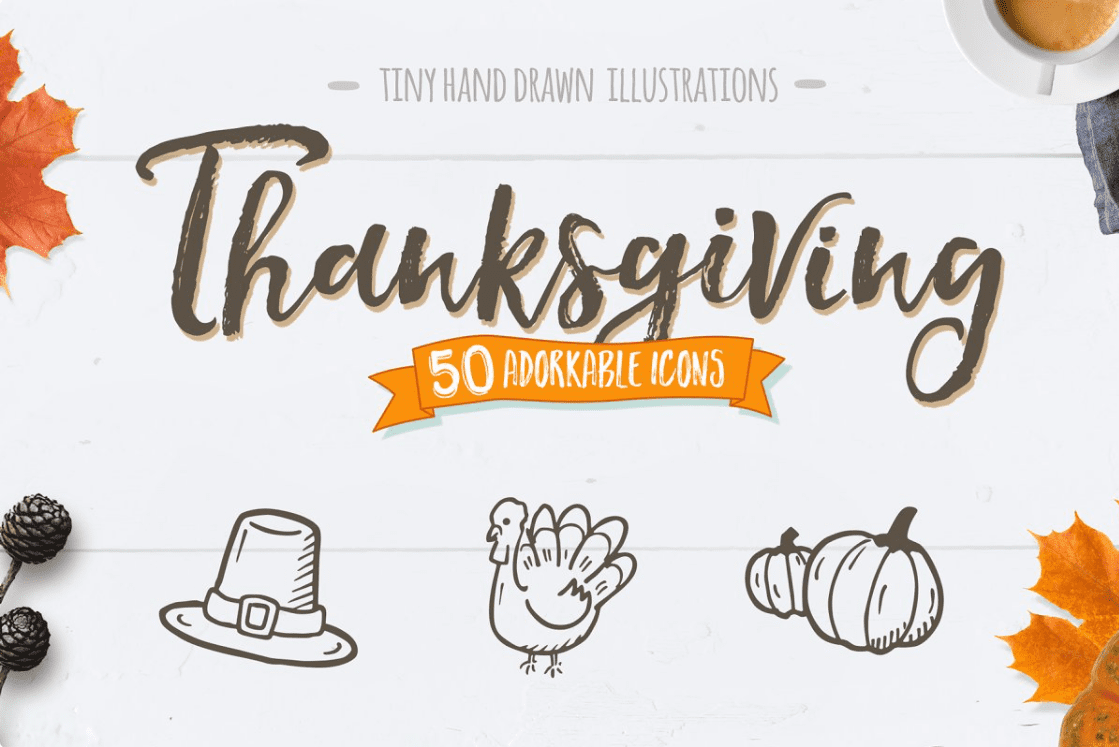 Thanksgiving - Hand Drawn Icons by Good Stuff No Nonsense.