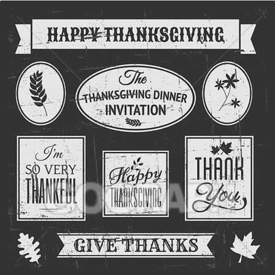 Chalkboard Thanksgiving Design Elem.