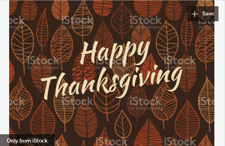 Thanksgiving Leaves Background stock illustration.
