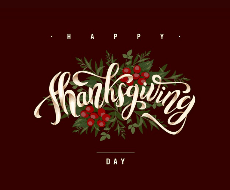 Flat design thanksgiving background with leaves Premium Vector.