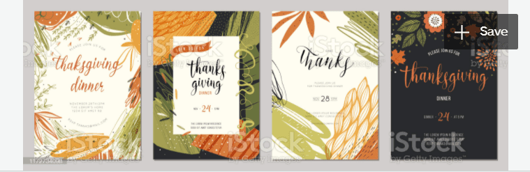 Thanksgiving Cards 03 stock illustration.