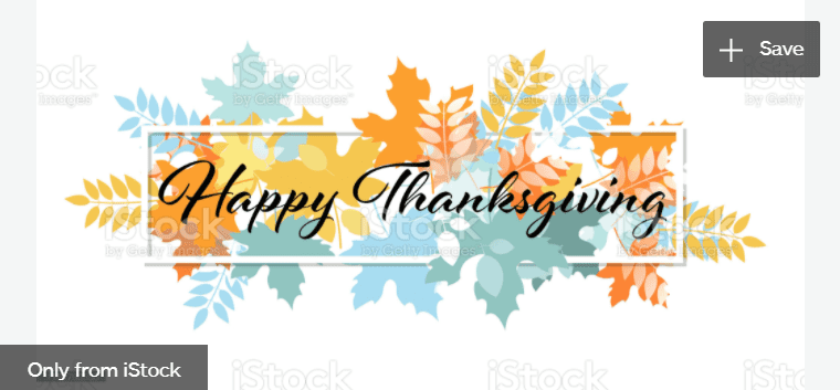 Happy Thanksgiving stock illustration.
