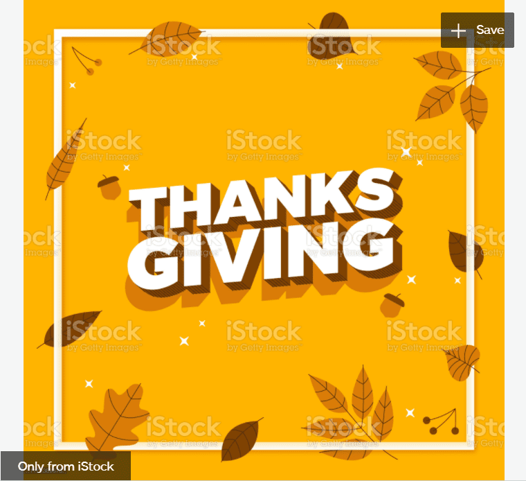 Thanksgiving Autumn Frame Message Background stock illustration.