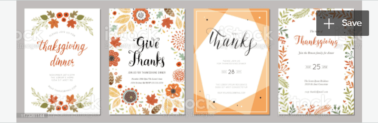 Thanksgiving Cards 06 stock illustration.
