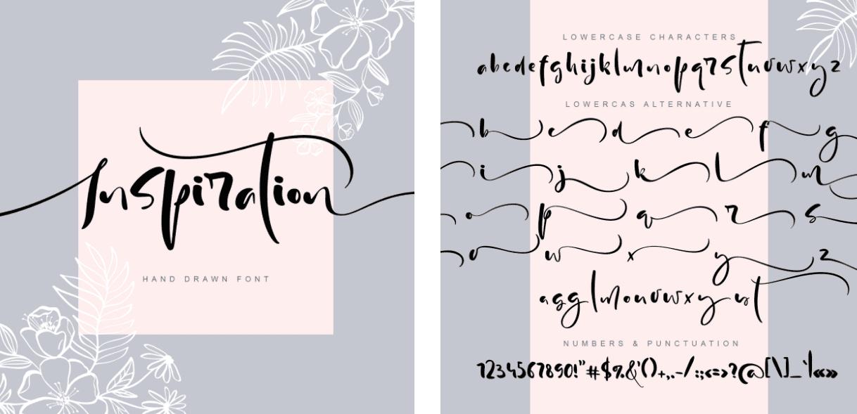 Modern Handwritten Calligraphy Font.