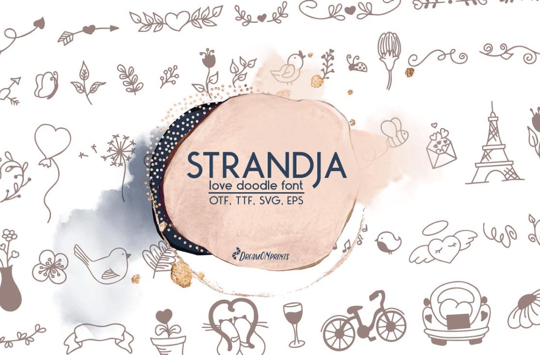 Strandja - Love Doodle Font by DreamONprints.
