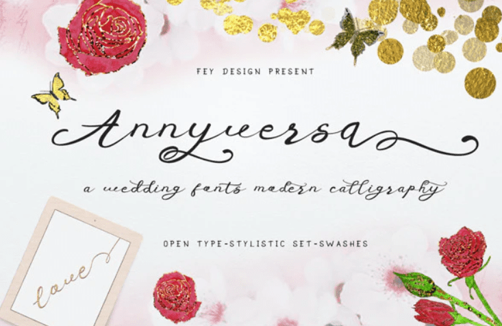 95+ Best Girly Fonts 2021: Free, Premium & Bundles - font 16