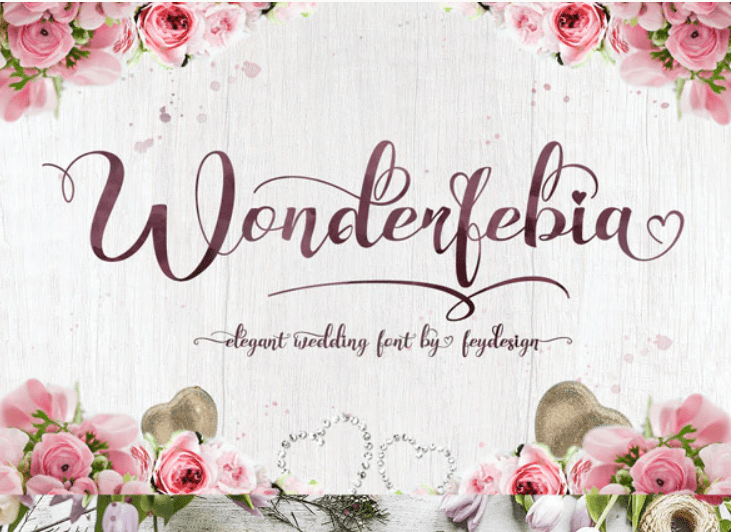 95+ Best Girly Fonts 2021: Free, Premium & Bundles - font 18