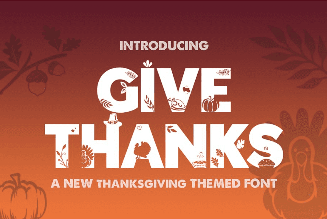 90+ Free Thanksgiving Fonts 2020 [Updated] - font 2 1