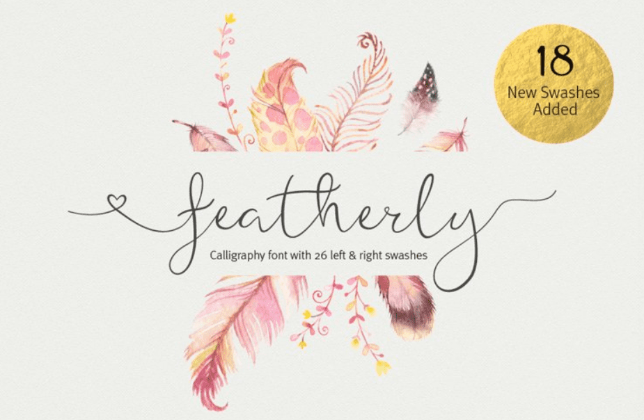 95+ Best Girly Fonts 2021: Free, Premium & Bundles - font 30