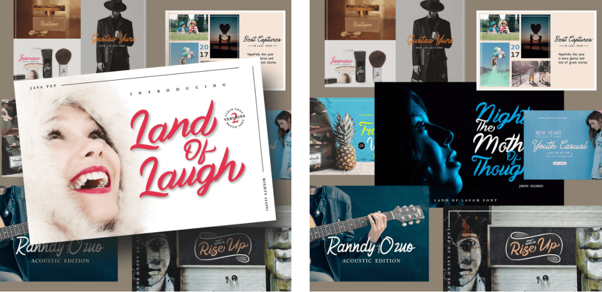 Land Of Laugh – Clean & Rough Font.