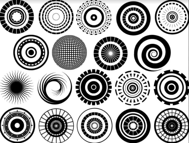 Circles. Geometric Patterns.