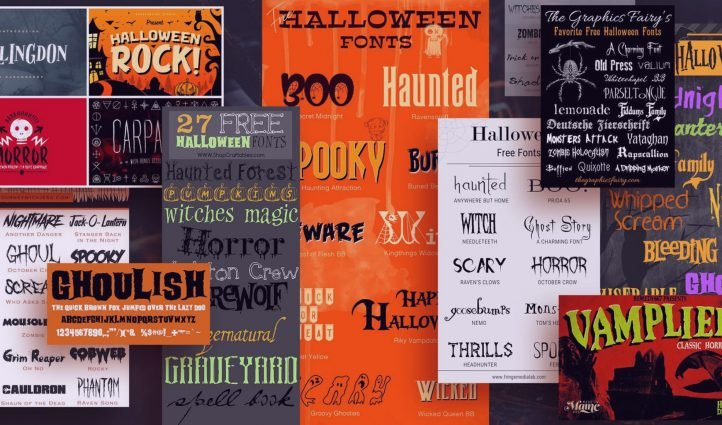 Examples Of The Best Halloween Fonts.