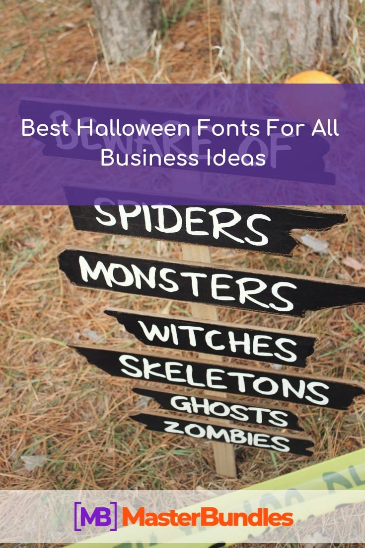 Pinterest Image. Best Halloween Fonts.