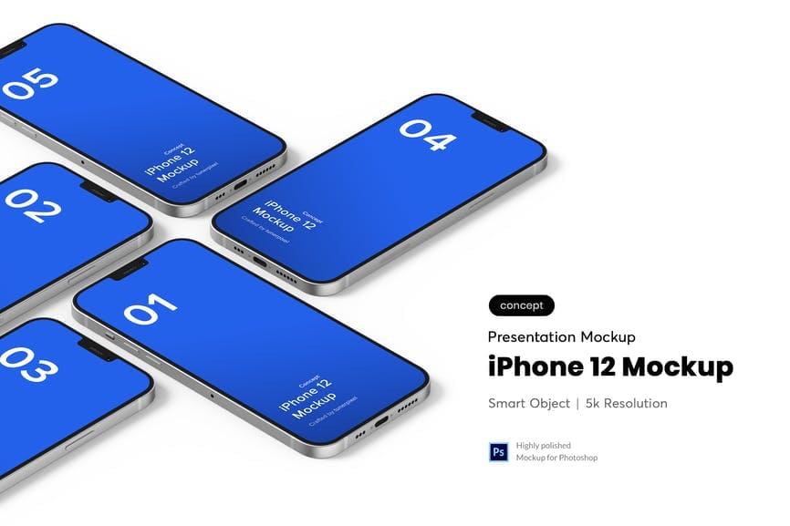 10+ iPhone 12 Mockups: Mini, Pro, Max. Free and Premium. Be In Trend With New Technology - iphone 12 07