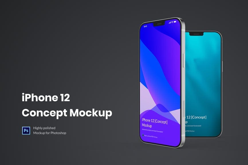 10+ iPhone 12 Mockups: Mini, Pro, Max. Free and Premium. Be In Trend With New Technology - iphone 12 09