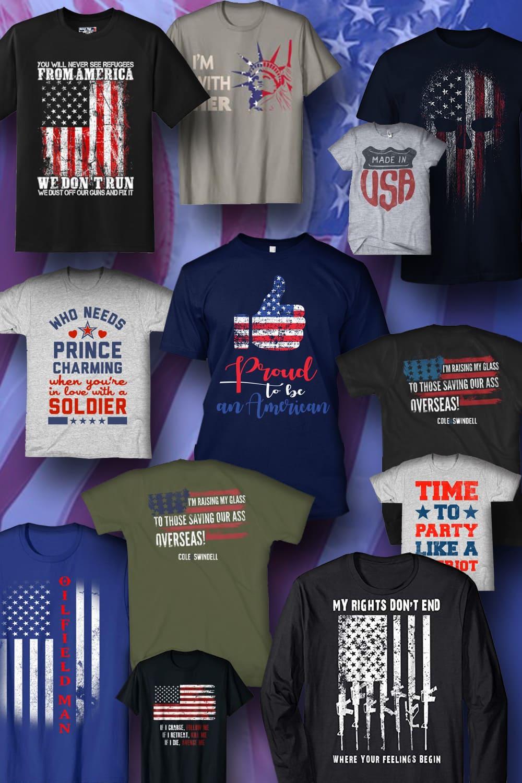 Pinterest Image. Best Patriotic T-shirts.