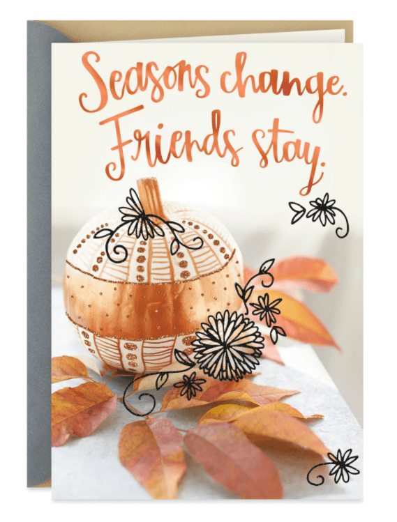 Grateful for You, Friend Thanksgiving Card.