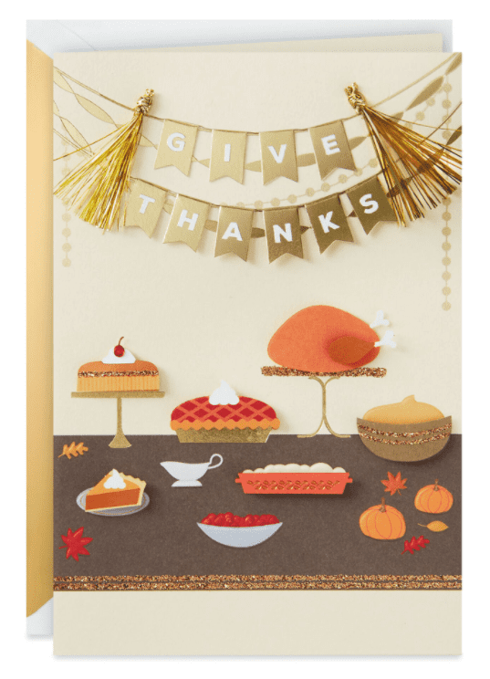 Give Thanks Holiday Feast Thanksgiving Card.