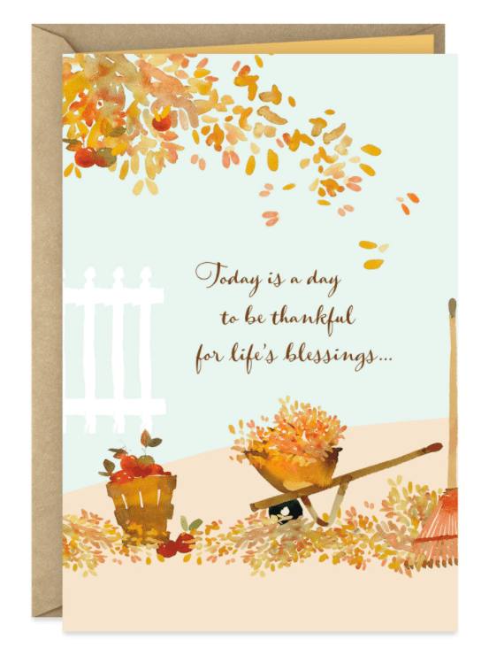 Thankful for a Blessing Like You Thanksgiving Card.
