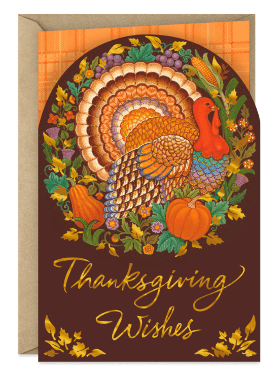Enjoy the Blessings Thanksgiving Card.