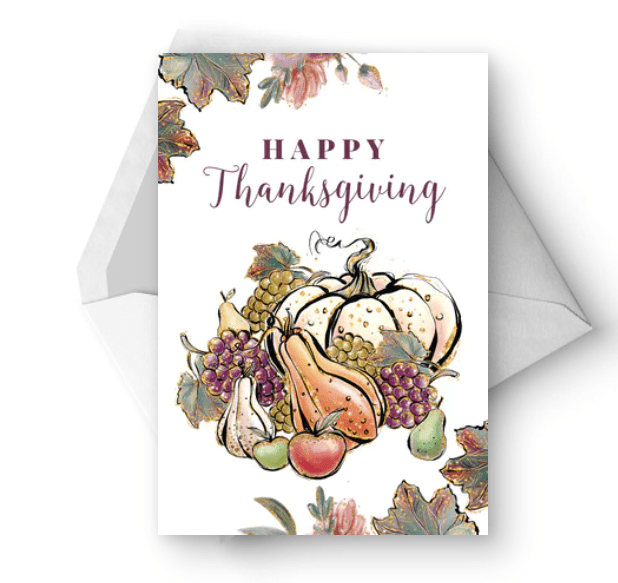 Sparkle Autumn - Thanksgiving Card.