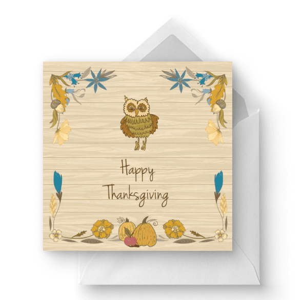 Thanksgiving Charm - Thanksgiving Card.
