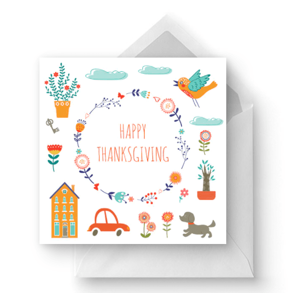 Everyday Thankfulness - Thanksgiving Card.