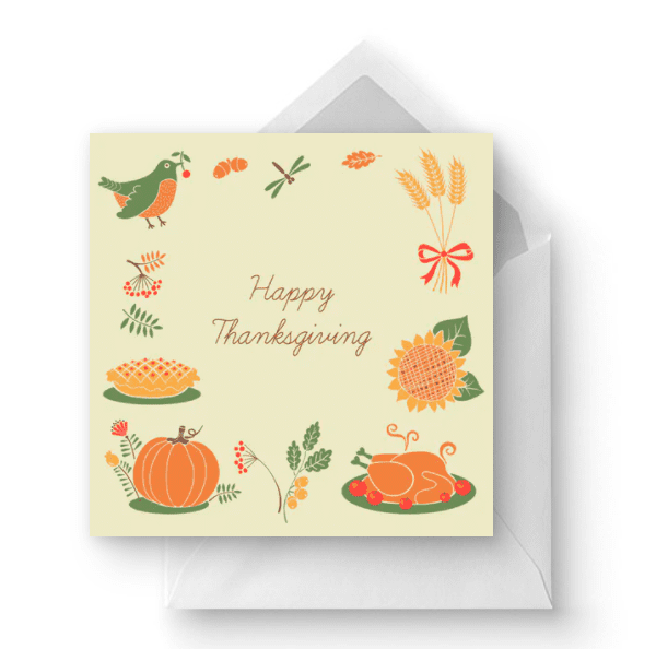 Tokens of Thanksgiving - Thanksgiving Card.