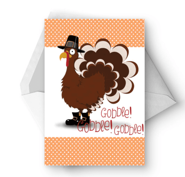Lets Talk Turkey - Thanksgiving Card.