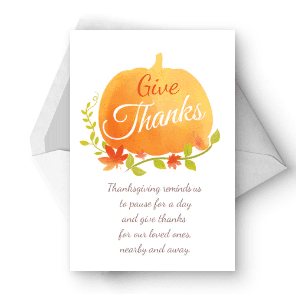 Pausefor Aday - Thanksgiving Card.